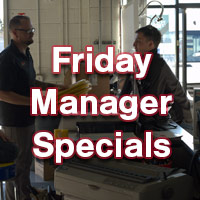 Friday Manager's Specials