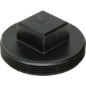 AB&A 3051RA ABS 1-1/2 inch Plastic Square Head Cleanout Plug