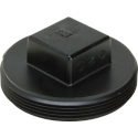 AB&A 3053RA ABS 3 inch Plastic Square Head Cleanout Plug