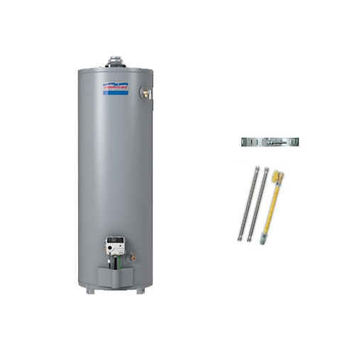 American Water Heaters U50R8KIT-SS 50 Gallon Ultra-Low NOx Natural Gas Water Heater Kit