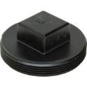 AB&A 3052RA ABS 2 inch Plastic Square Head Cleanout Plug