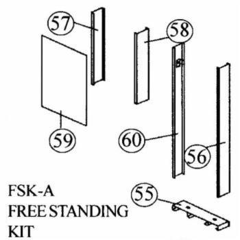 Cozy FSK-A Free Standing Kit for Single Wall Furnace