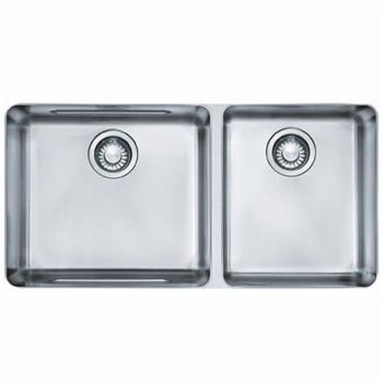 Franke KBX12034 Kubus 15-Inch x 30-Inch Offset Double Bowl Undermount Kitchen Sink - Stainless Steel