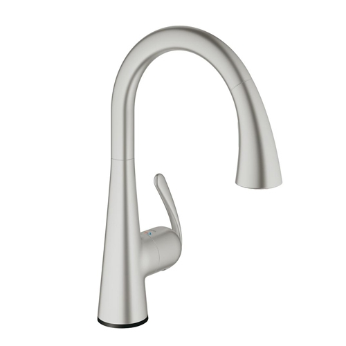 Grohe 30205DC1 Ladylux Touch Single Handle Kitchen Faucet - Supersteel