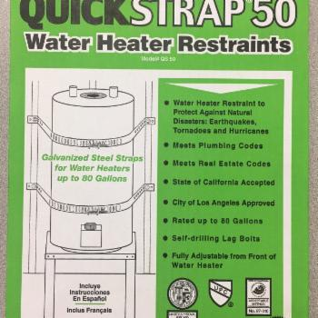 HoldRite QS-50 Quick Strap for Water Heater