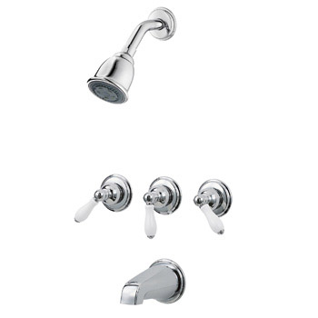 Pfirst 01-81PC Series 3-Handle Tub & Shower Trim Only - Chrome