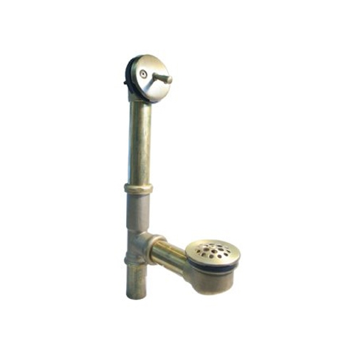 Westbrass D323-26 Trip Lever Bath Waste and Overflow with Beehive Strainer - Chrome